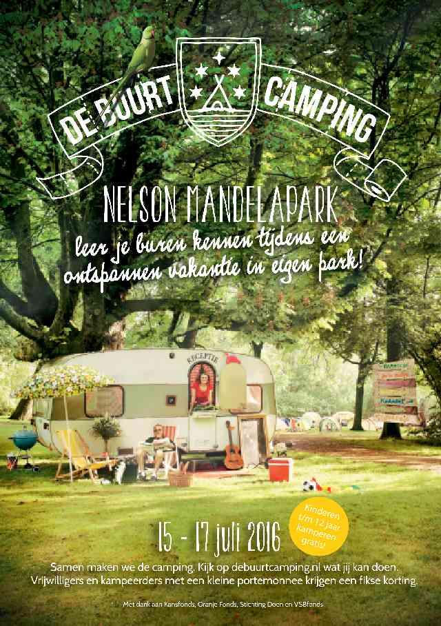De Buurtcamping Haarlem nelson mandela park 2016